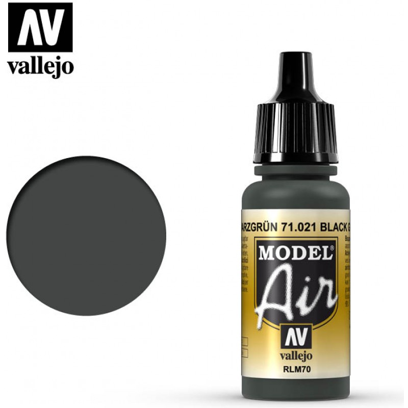 Vallejo Model Air Black Green RLM70 71021