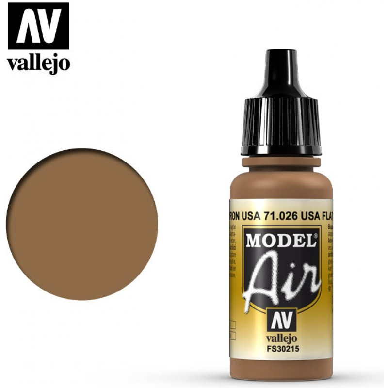 Vallejo Model Air US Flat Brown 71026