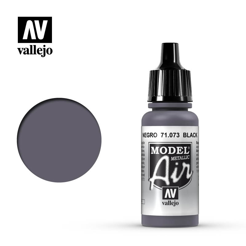 Vallejo Model Air Black (Metallic) 71073