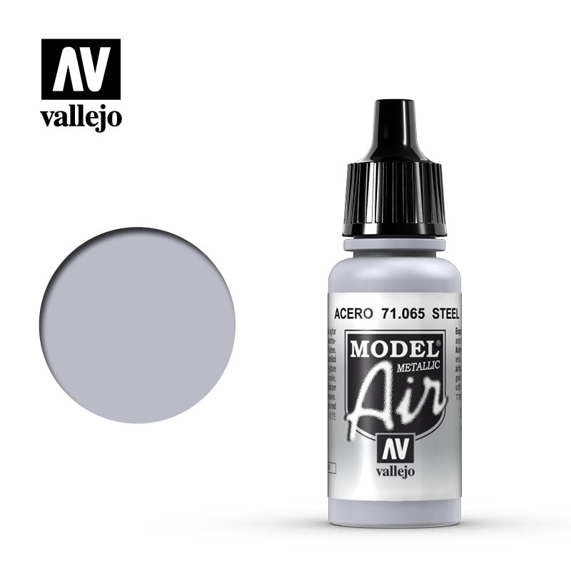 Vallejo Model Air Steel (Metallic) 71.065