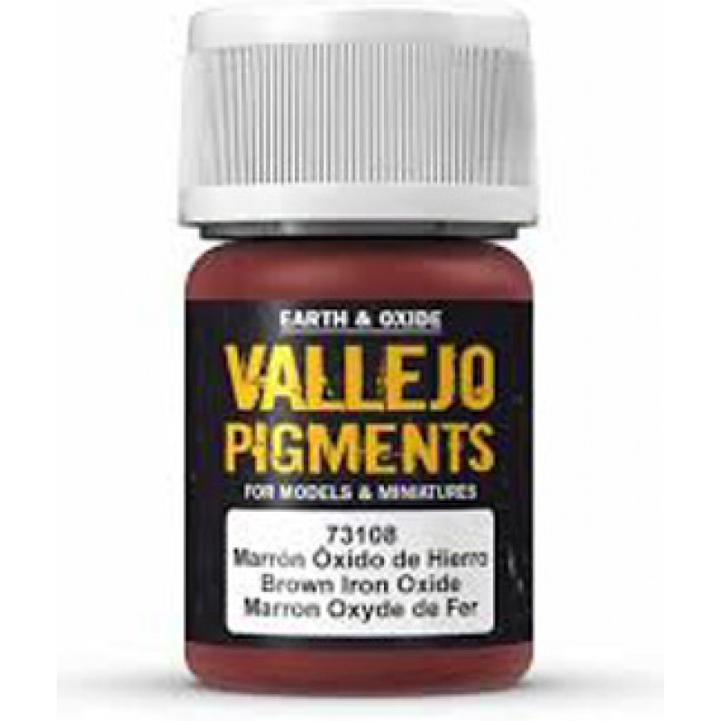 Vallejo Brown Iron Oxide Pigment 30ml 73108