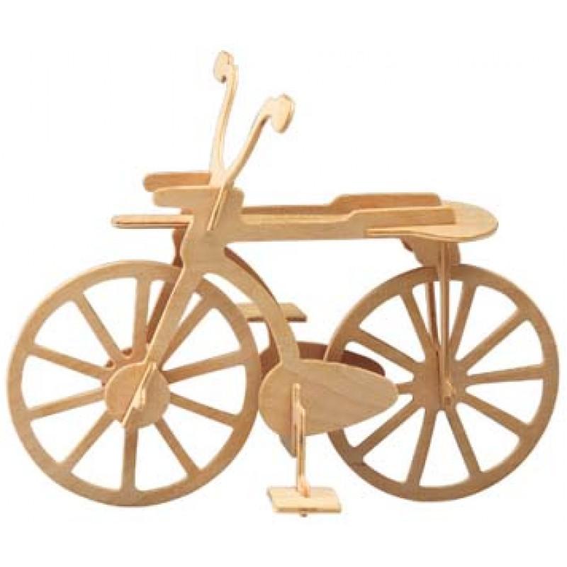 Ξυλινη Κατασκευη Παζλ 3D Ποδήλατο