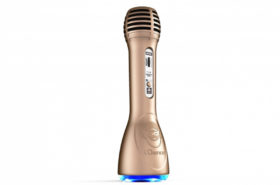 iDance Party Mic PM-6 Gold με Bluetooth, Ενσωματωμένο Ηχείο Karaoke και Φωτορυθμικό