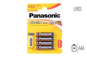 Αλκαλικες Μπαταριες AAA Panasonic για Γενική Χρήση