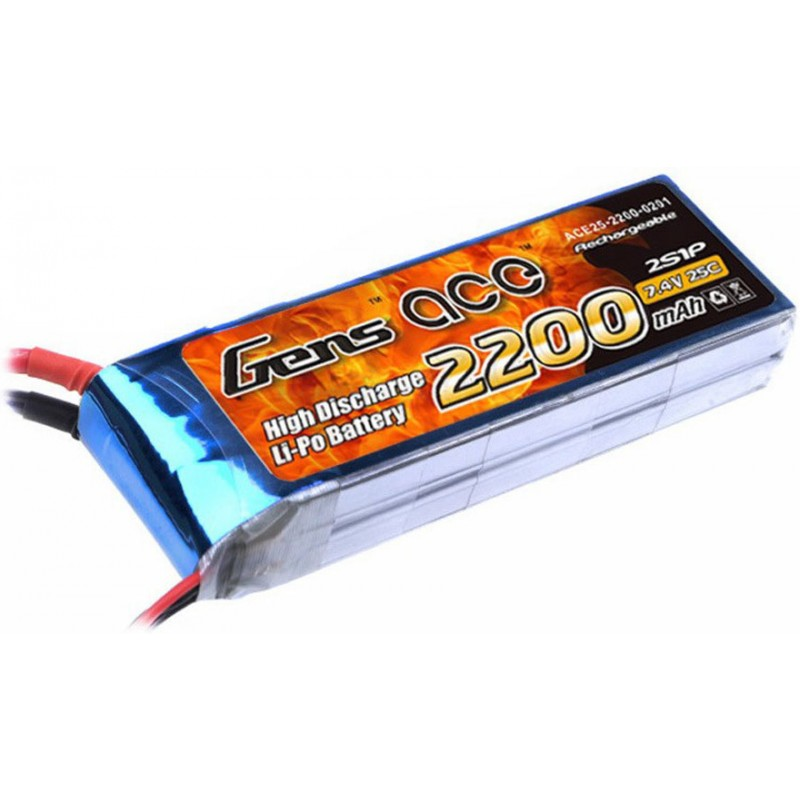 Gens Ace Lipo Battery 7.4V 2200mAh