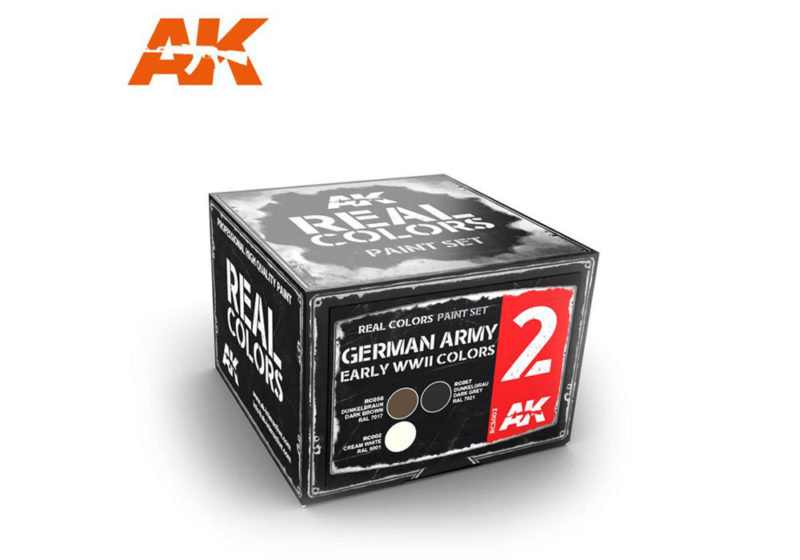 German Army Early WWII Colors Set - Real Colors (3 x 10ml) - Acrylic Lacquer Paints Set
