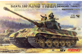 German Heavy Tank Sd.Kfz.182 King Tiger (Henschel Turret) with 2 Figures 1:35