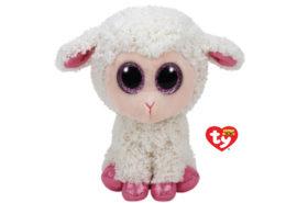 Ty Beanie Boos Λουτρινο Προβατο Ασπρο Ροζ