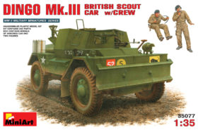 Dingo Mk III with Crew - British Scout Car & 2 Figures Miniart 35077