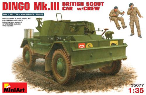 Dingo Mk III with Crew – British Scout Car & 2 Figures Miniart 35077