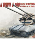 German WWII E-100 Super Heavy Panzer with 128mm FLAK 40 Zwilling Modelcollect UA72097