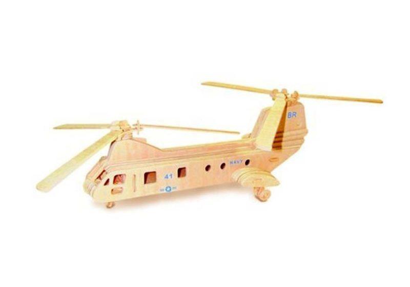 Ξύλινη Κατασκευή 3D Puzzle Ελικόπτερο P133