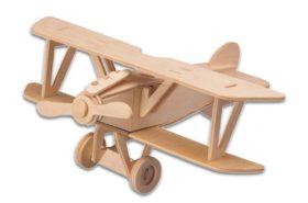 Ξύλινη Κατασκευή Αεροπλάνο 3D Puzzle P059
