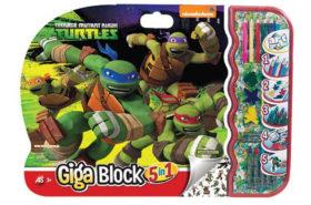 Σετ Ζωγραφικής Giga Block 5 σε 1 Turtles