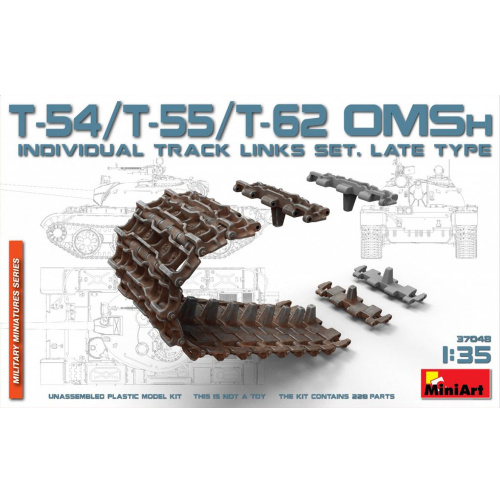 T-54 T-55 T-62 OMSh Ind Track Links Set Late Type 135