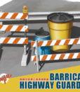 1:35 Barricades & Highway Guardrail MENG PS013