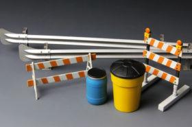 Barricades & Highway Guardrail 1:35