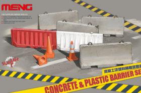 Concrete & Plastic Barrier Set 1:35 MENG SPS012