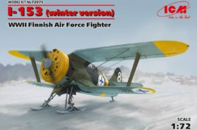 Finnish Air Force Fighter I-153 WWII Winter Version 1:72 ICM 72075