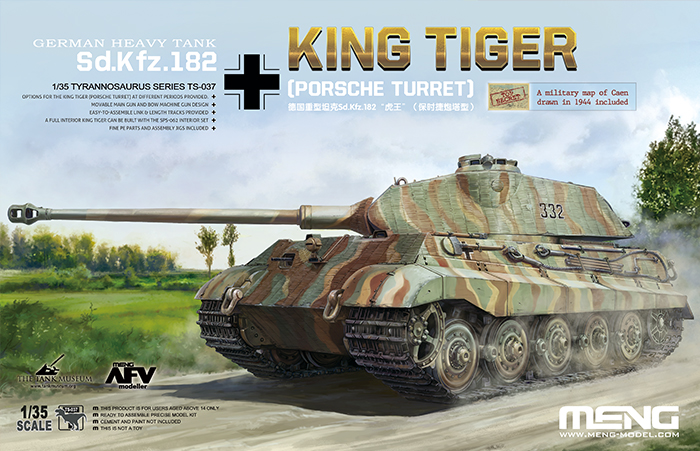 German Heavy Tank Sd.Kfz. 182 King Tiger (Porsche Turret) 1:35