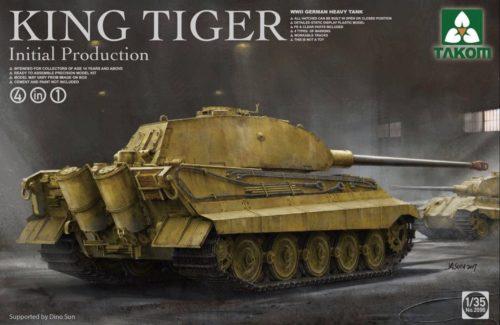 WWII German Heavy Tank King Tiger Initial Production 4 in 1 1:35 TAKOM