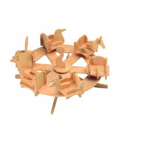 Ξύλινη Κατασκευή 3D Puzzle Γύρω-Γύρω