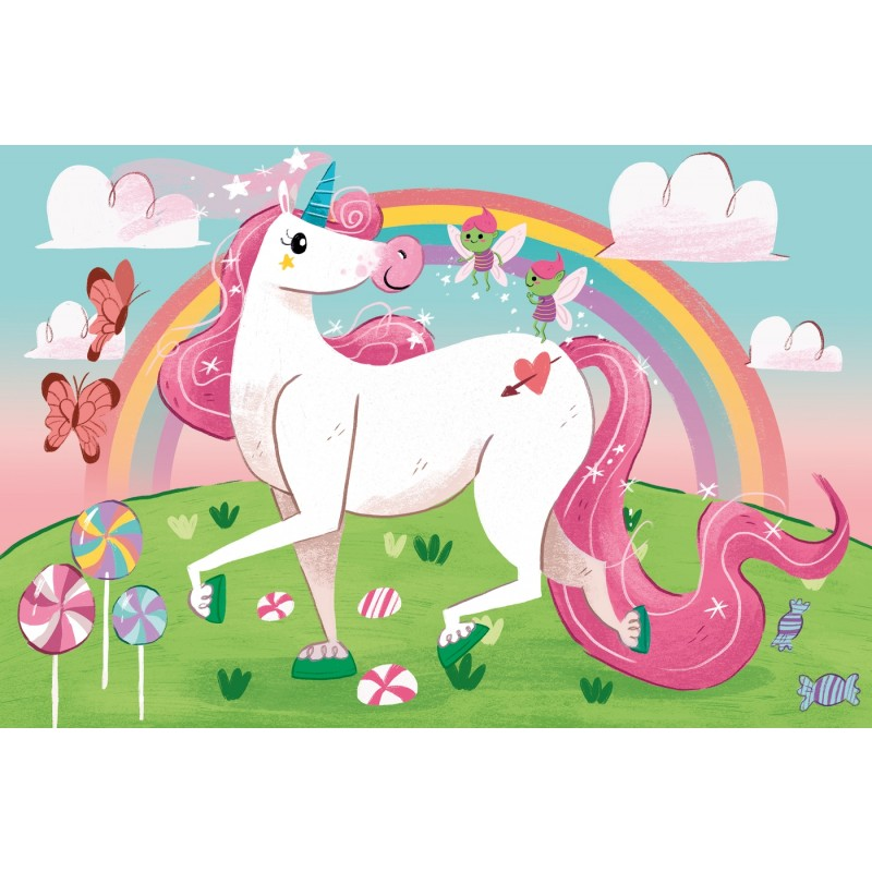 I Believe in Unicorns - 104 pcs - Clementoni Supercolor Puzzle