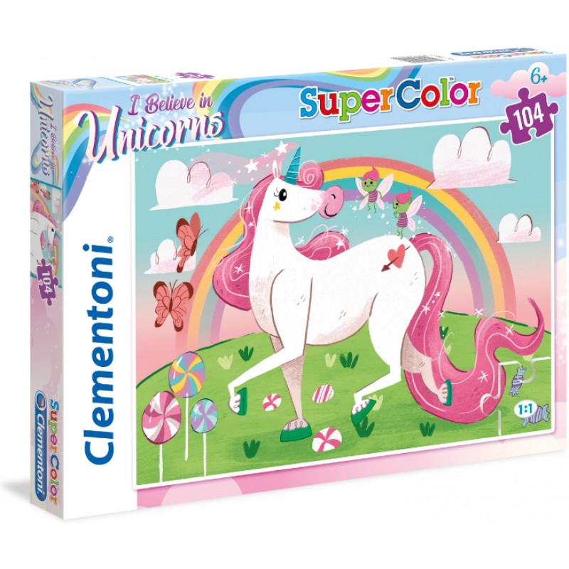 I Believe in Unicorns Clementoni Supercolor Puzzle