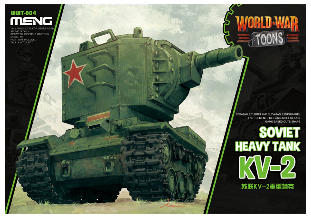 Soviet Heavy Tank KV-2 (Cartoon Model) - Meng Models (1)