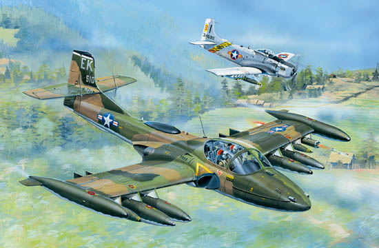 US A-37A Dragonfly Light Ground-Attack Aircraft 1:48