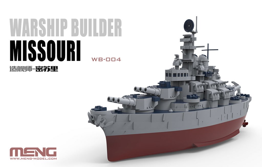 Warship builder Missouri (Cartoon Model)