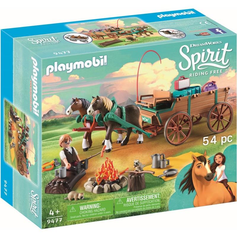 Playmobil Ο Πατερας της Lucky με Άμαξα