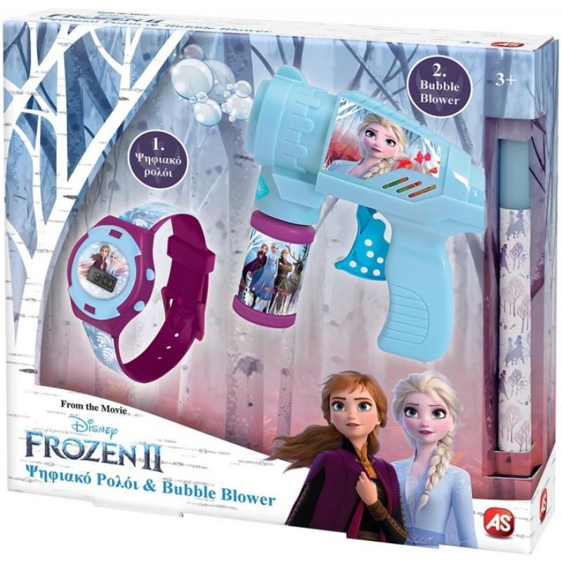 Λαμπάδα Ρολόι Και Bubble Gun Frozen 2