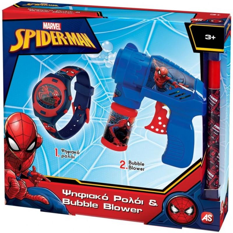 Λαμπάδα Ρολόι Και Bubble Gun Spiderman