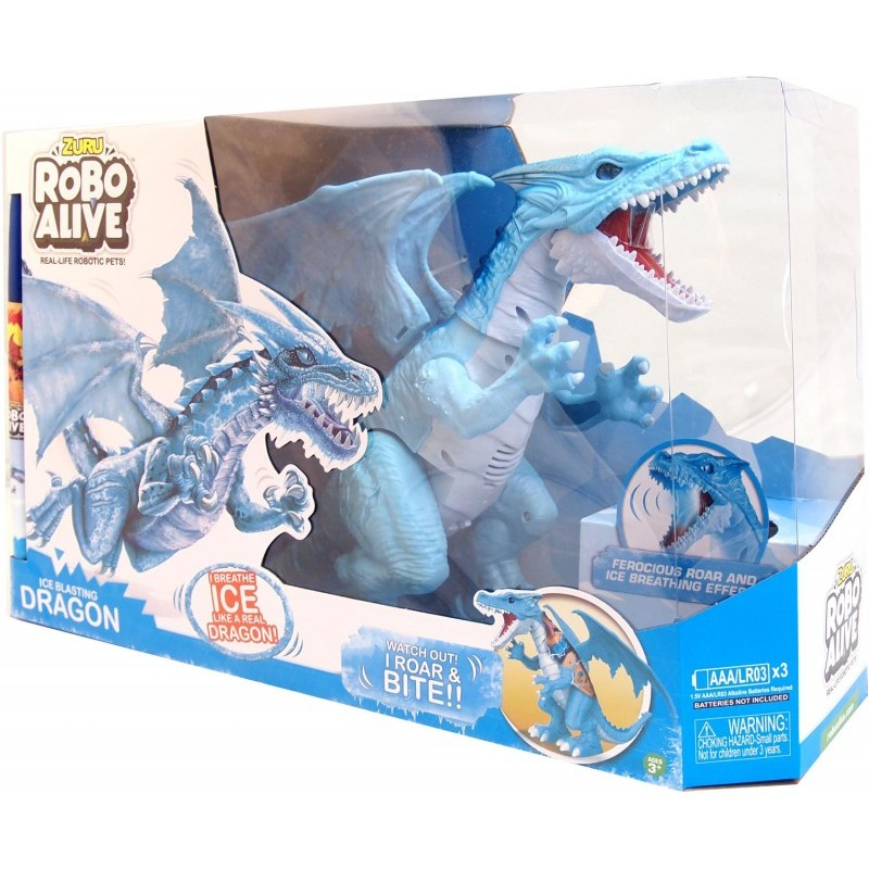 Robo Alive Λαμπάδα Ηλεκτρονικός Δράκος Μπλε
