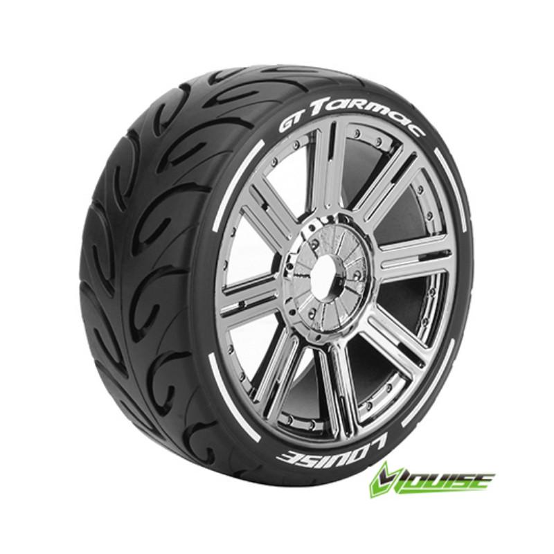 Tires & Wheels GT-Tarmac GT Soft (MFT) Black Chrome 2 pcs 1:8