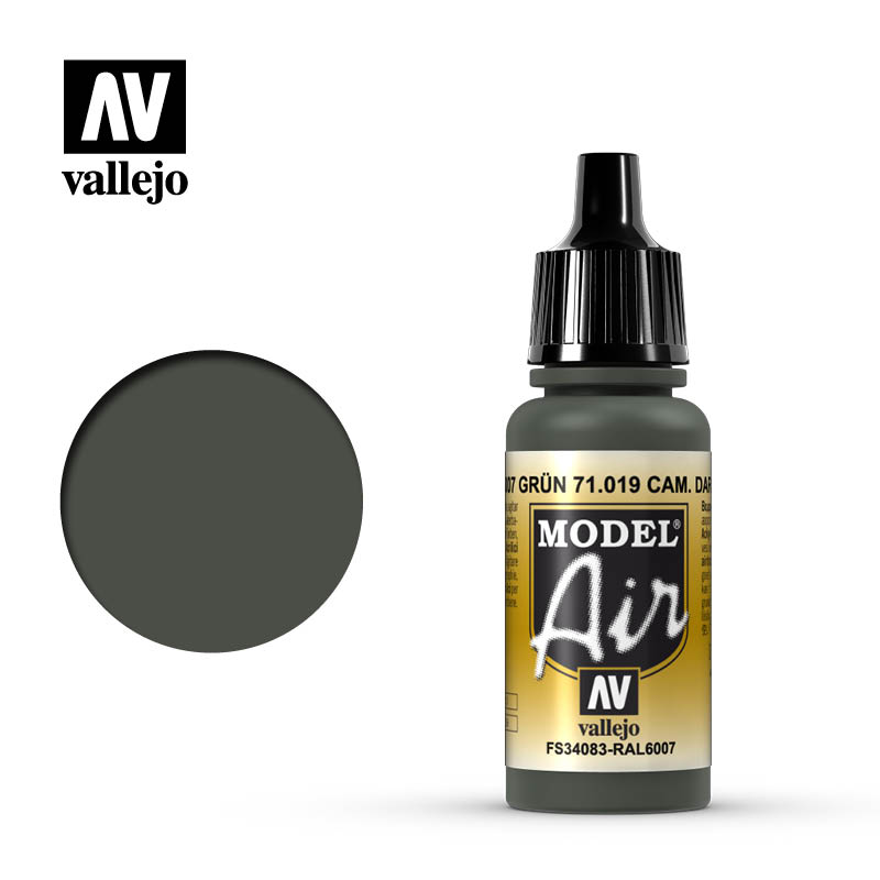Vallejo Model Air Camouflage Dark Green 71019