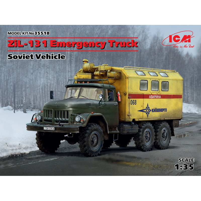ZiL-131 Emergency Truck Soviet Vehicle 1:35