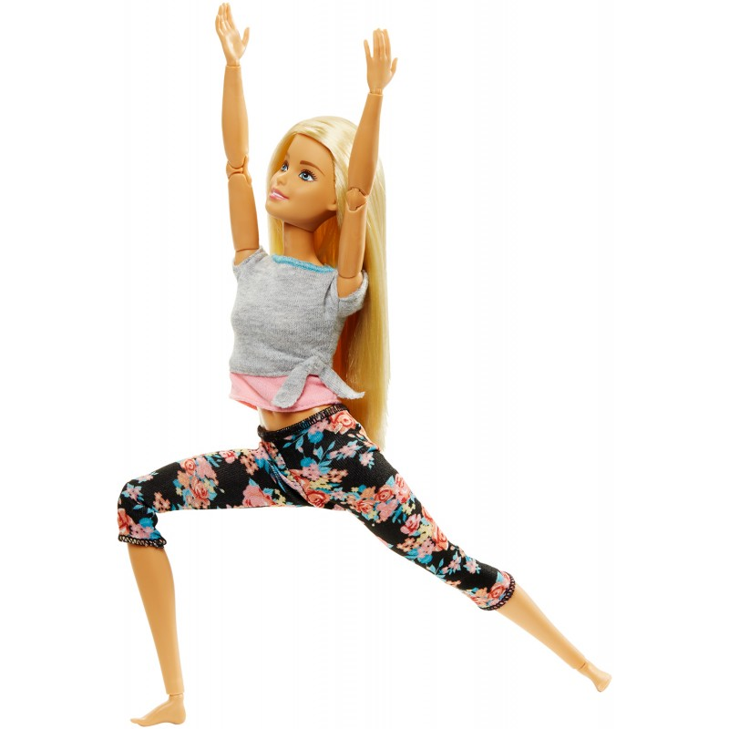 Barbie Αμέτρητες Κινήσεις - Κούκλα με Καμπύλες και Ξανθά Μαλλιά