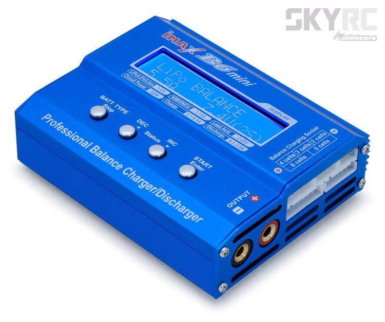 SkyRC B6 Mini Charger 60W 6A 1-6S 12VDC