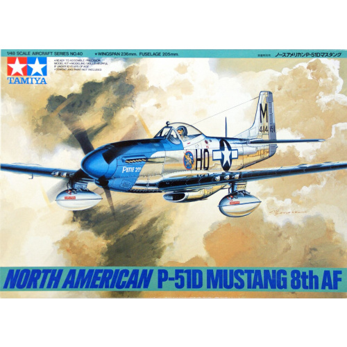 North American P-51D Mustang - 8th Air Force 1:48