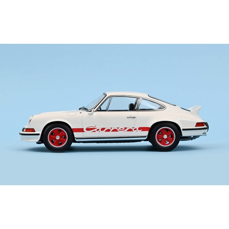 Porsche 911 RS 1973 - White with Red Deco 1:18 2