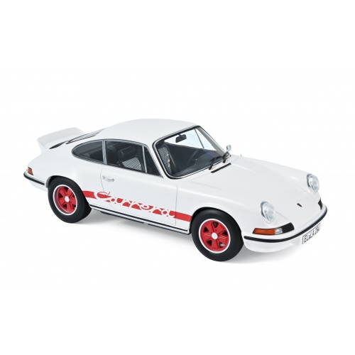 Porsche 911 RS 1973 - White with Red Deco 1:18
