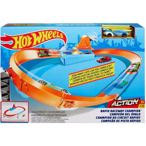Hot Wheels Rapid Raceway Champion Play Set