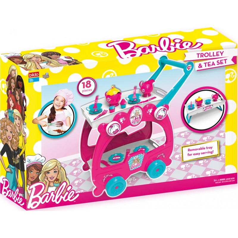 Bildo - Barbie Trolley & Tea Set