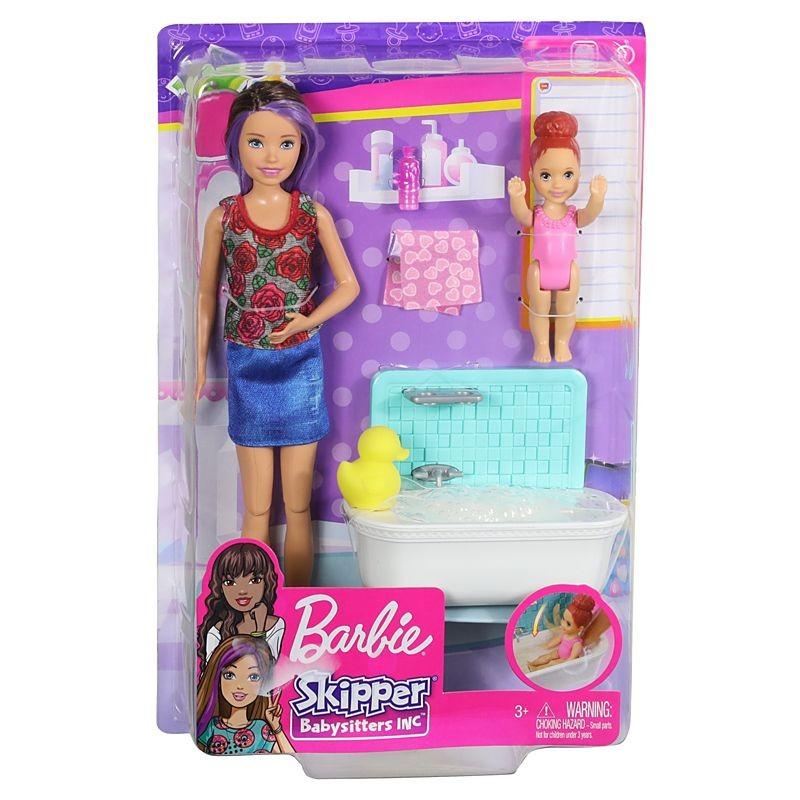 Mattel Barbie Skipper Babysitters Ωρα για Μπάνιο