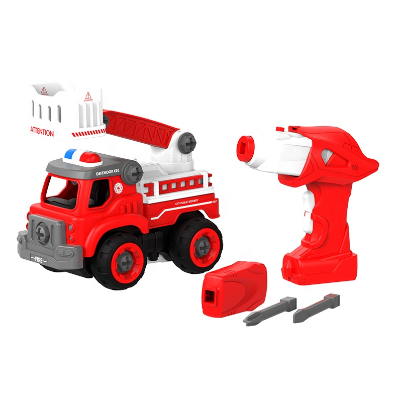 Πυροσβεστικό Όχημα με Τρυπάνι - Κατσαβίδι & Ήχους