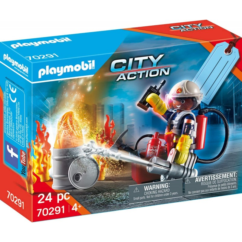 Playmobil City Action - Gift Set Πυροσβέστης με Αντλία Νερού (70291)
