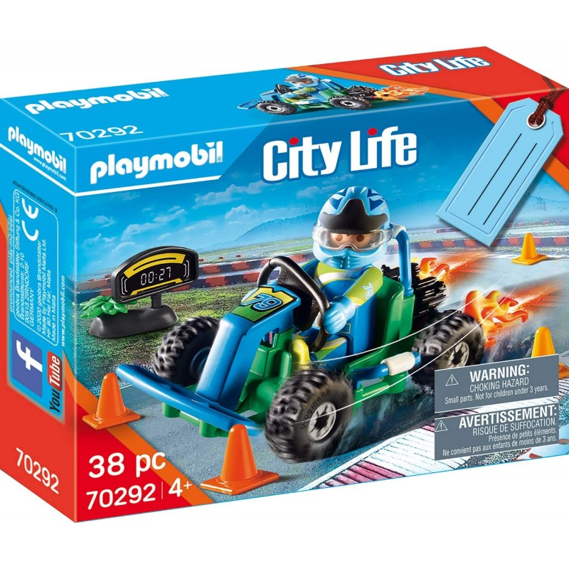 Playmobil City Life - Gift Set Οδηγός με Go-Kart (70292)