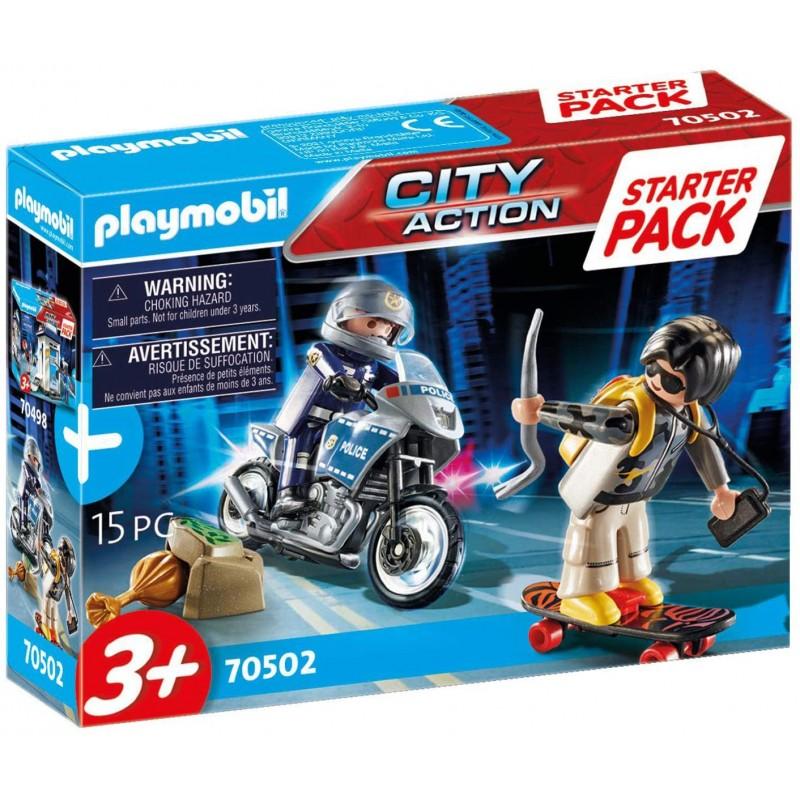 Playmobil Starter Pack - Αστυνομική Καταδίωξη (70502)